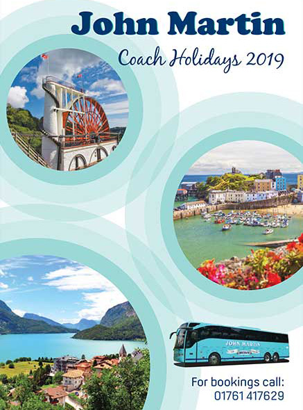John Martin Coach Holidays catalogue 2019
