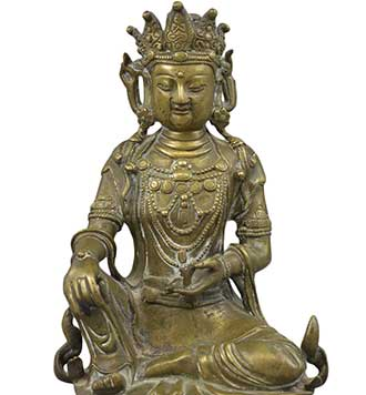 Bath Auction house antique, Chinese statue