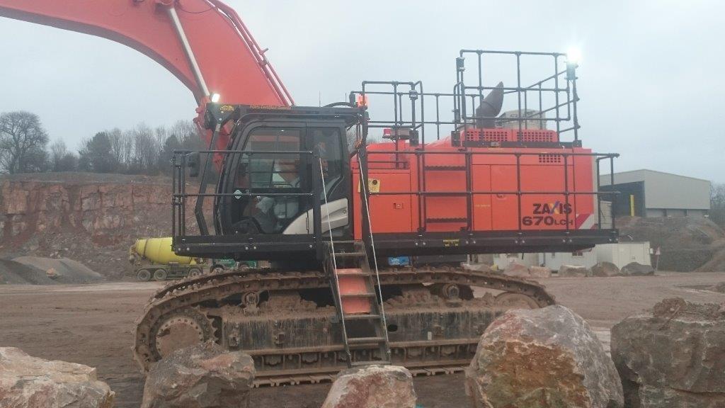 Large excavator Repair